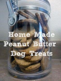 Home Made Peanut Butter Dog Treats Recipe