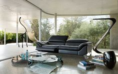 Living Room Inspiration: 120 Modern Sofas by Roche Bobois (Part 2/3) | HomeDSGN