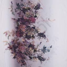 Fastvævet, silke med blomster tryk