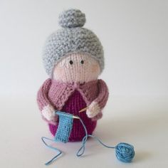 Cute knitting pattern - Granny knitting project by Amanda Berry   LoveKnitting - Will make an adorable gift for Mother's Day.