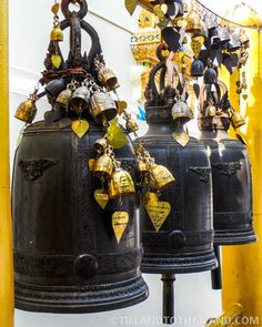 Temple bells at Wat Doi Suthep in Chiang Mai, Thailand | tielandtothailand.com