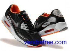 new concept a09ba acf80 Vendre Pas Cher Homme Chaussures Nike Air Max 90 (couleur blanc,noir,argent, orange) en ligne en France.