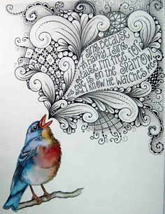 I sing because I'm happy,I sing because I'm free,For His eye is on the sparrow,And I know He watches me