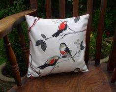 Pretty bird cushion