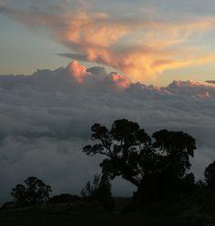 La entrada al reino de las nubes de fuego