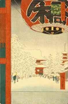 8 paisajes invernales de Hiroshigue