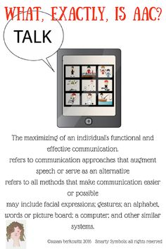 Kidz Learn Language: AAC 101: What is Augmentative-Alternative Communication? Communication modes that augment speech or serve as an alternative for those who do not speak. Communication Development, Language Development, Effective Communication, Speech And Language, Speech Language Therapy, Speech Therapy, Literacy Skills, Creating A Blog, Learning