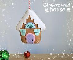 Christmas ornaments felt Gingerbread House Christmas Tree Christmas ornament…