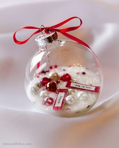 christmas ornament diy gift that is a gorgeous personalized keepsake, christmas decorations, crafts, seasonal holiday decor