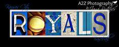Kansas City Royals 8x20 letter art Photo Print by a2zphotography, $30.00 #kansascity #kc #royals #baseball