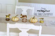 Easy Fall table centerpiece |TodaysCreativeBlog.net