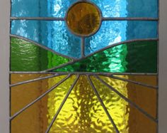 Espiral Hermoso rojo y ámbar vidrieras por pewtermoonsilver en Etsy