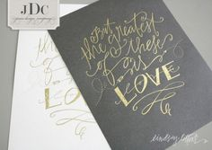 Lindsay Letters with Jones Design Company / Greatest is Love art prints