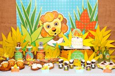 Jungle Lion Birthday Party Safari Value Package from the Wild Child DIY Printable Party Collection by Spaceships and Laser Beams. $45.00, via Etsy.
