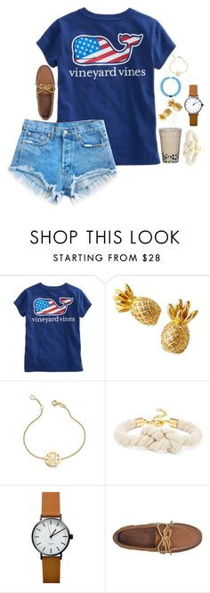 """""""Untitled #118"""" by hannyjep on Polyvore featuring Levi's, Lilly Pulitzer, Sarah Chloe, BaubleBar and Sperry"""