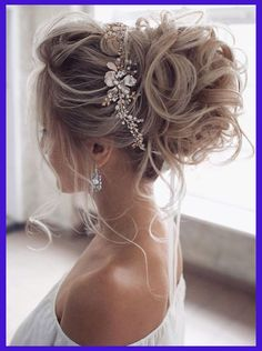 : wedding updo hairstyle, messy updo bridal hairstyle,updo hairstyles ,wedding hairstyles Hairstyles Gorgeous & Super-Chic Hairstyle That's Breathtaking - Fabmood Long Hair Wedding Styles, Wedding Hairstyles For Long Hair, Wedding Hair And Makeup, Bridesmaid Hairstyles, Elegant Wedding Hairstyles, Hairstyles For Brides, Engagement Hairstyles, Up Hairstyles For Wedding, Updos For Brides