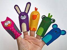 Hračky - Zvieratká 5. - prstové bábky - 9097257_ Handmade, Hand Made, Handarbeit