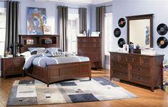 Riley Casual Cherry Wood Kids Bedroom Set