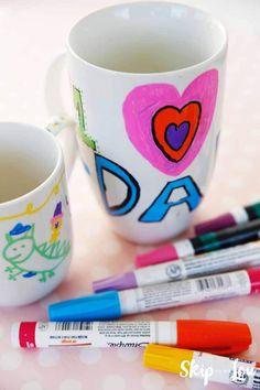 Sharpie mug crafts diy sharpie mug, mugs и sharpie crafts Mug Crafts, Sharpie Crafts, Diy Sharpie Mug, Sharpie Markers, Sharpies, Crafts For Teens, Diy For Kids, Kids Crafts, Preschool Crafts