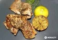 Vajban pirított harcsa sült citrommal Chicken, Food, Essen, Meals, Yemek, Eten, Cubs