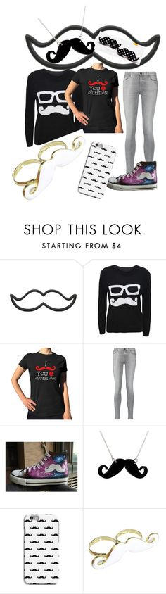 """moustache"" by adelle-louise-istead on Polyvore featuring WearAll, 7 For All Mankind, HVBAO, Any Old Iron and Emi Jewellery"
