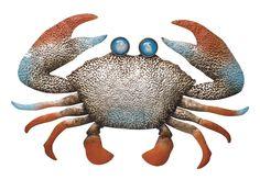 Punched Metal Crab Wall Art