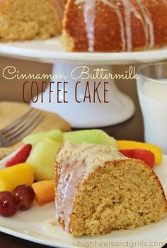 High Heels and Grills: Cinnamon Buttermilk Coffee Cake My Recipes, Baking Recipes, Cake Recipes, Dessert Recipes, Favorite Recipes, Buttermilk Coffee Cake, Buttermilk Recipes, Just Desserts, Delicious Desserts