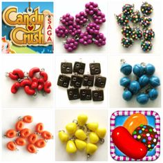 Polymer Clay Candy Crush Mini Charms Now Sold by PolymerSisters, $0.50