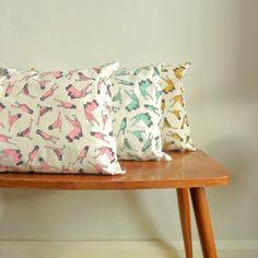 Bird print cushion covers  created by hannah