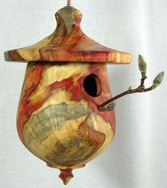 Boxelder birdhouse from Schoolhouse Woodcrafts, Deborah and Paul Bahm.