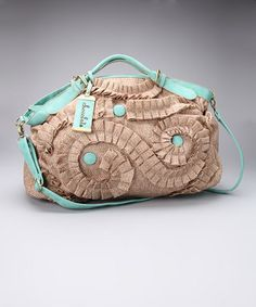 Turquoise Raffia Weekender. Wouldn't this make an outfit pop?