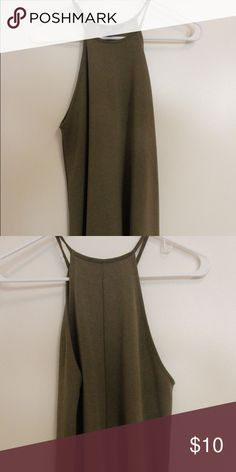 Army Green Dress Only worn once, great condition. Goes right above the knee Forever 21 Dresses Midi