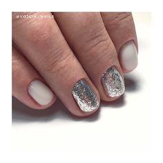 White manicure glitter White Manicure, Glitter, Nails, Beauty, Finger Nails, Beleza, Ongles, Nail, Cosmetology