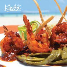 ¿Camarón que se duerme? Nos lo llevamos a este delicioso plato.  Beachscape Kin Ha (Cancún).