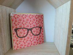 carte à lunettes, carte vraiment chouette ! avec son enveloppe - bylfdp : Cartes par faire-parts-absolument-bylfdp