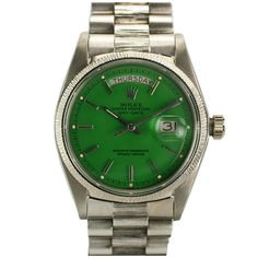 "Rolex Day-Date Green ""Stella Dial Presidential"" Ref 1807 