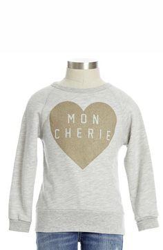 Peek 'Mon Cherie' Crewneck Sweatshirt (Toddler Girls, Little Girls & Big Girls) | Nordstrom