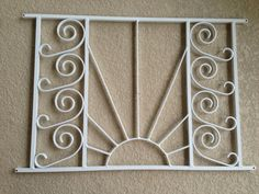 Screen Door Grille, Protective, Aluminum, Decorative, New Style, Empire Sun  Custom Style, Handmade, Custom Sizes Available