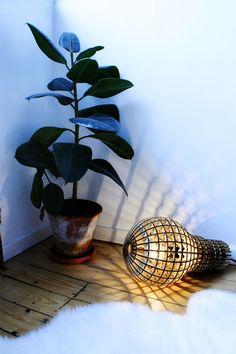 Beautiful giant wooden light bulb.