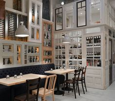 Restaurant wall decor ideas modern wall design ideas for restaurant home decorating with old wood doors . Old Wood Windows, Old Wood Doors, Windows And Doors, Cafe Interior, Modern Interior Design, Wood Interiors, Modern Wall Decor, Cafe Bar, Architecture Design