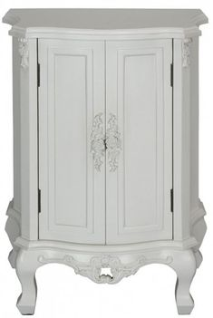 Blanche French Style White Two Door Cabinet | Florence And Rosa Shabby Chic Interiors Shop