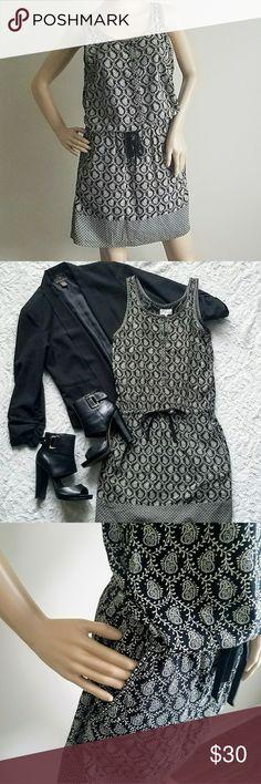 LOU AND GREY Dress LOU AND GREY DRESS Size S Drawstring Waist Paisley Print Side Pockets Lou & Grey Dresses