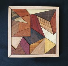 Exotic Wood Tray Puzzle Wenge Wood, Wood Mosaic, Easy Wood Projects, Rustic Wall Art, Art Corner, Wood Tray, Wooden Wall Art, Wood Pieces, Wood Crafts
