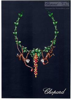"""Esquisse définitive - Collier Singes - Chopard - 2010 - Collection Haute Joaillerie """"Le Monde des Animaux"""""""