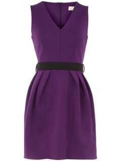 Purple v neck scuba dress