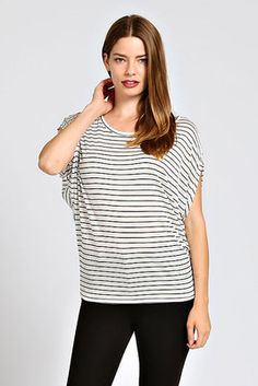STRIPE PRINT KNIT TOP- $12 SATURDAY DEAL OF THE DAY!!!! Cute & comfy in stripes!!! (Limited quantities, don't miss your size!) (no refunds or exchanges on this special pricing.)  (Mobile users: Purchase by clicking mobile link pinned to top of Dakota Jackson Boutique Facebook pg.) LIKE us on Facebook.