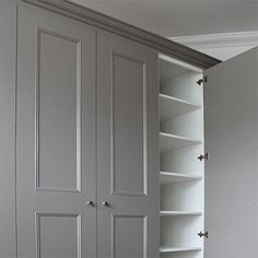 Fitted Wardrobes and Bookcases best in London. Alcove Cupboards and bookshelves order Fitted bedroom furniture at Bespoke Furniture Company based in UK Bedroom Storage Cabinets, Basement Storage, Cupboard Storage, Door Storage, Bathroom Storage, Storage Shelves, Kitchen Storage, Kitchen Pantries, Bedroom Drawers
