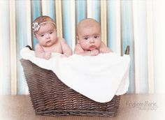 Weymouth Twins 3 Month Pictures – Indianapolis Twin Photography