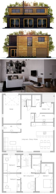 Small House Plan, Small Home Plans, Small House Container House Design, Small House Design, Dream Home Design, Modern House Design, Country House Plans, Small House Plans, House Floor Plans, Affordable House Plans, Affordable Housing
