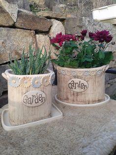 """Květináč """"Garden""""hranatý Ceramic Plant Pots, Ceramic Vase, Ceramic Pottery, Pottery Pots, Hand Built Pottery, Play Clay, Pottery Classes, Ceramic Studio, Pottery Studio"""